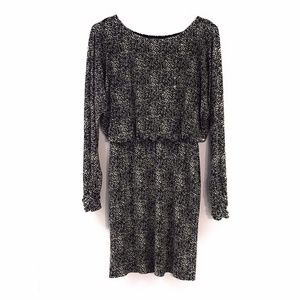 Jessica Howard A Line Dress Brown Shine Abstract
